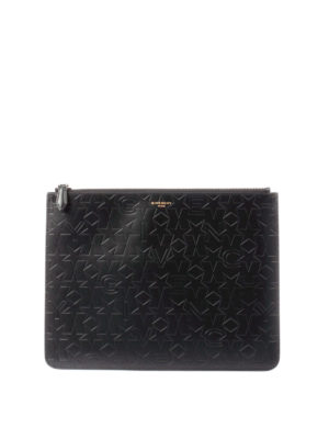 Givenchy: clutches - Embossed pattern leather pouch