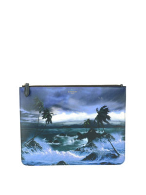 Givenchy: clutches - Hawaii print clutch