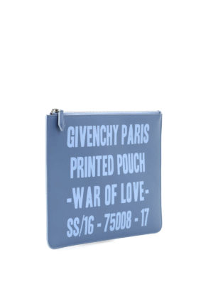 Givenchy: clutches online - Printed leather pouch