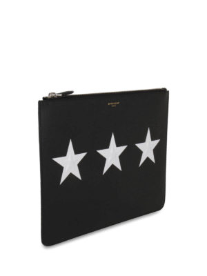Givenchy: clutches online - Star print leather clutch