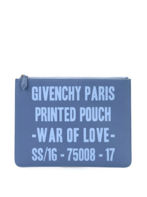 Givenchy: clutches - Printed leather pouch