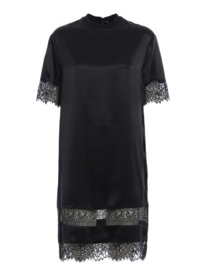 Givenchy: cocktail dresses - Lace trimmed silk tunic dress