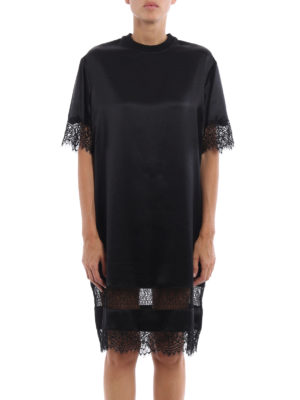 Givenchy: cocktail dresses online - Lace trimmed silk tunic dress