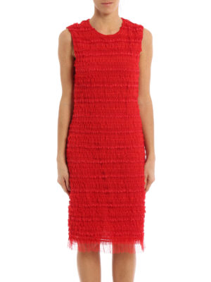 Givenchy: cocktail dresses online - Ruched tulle sheath dress