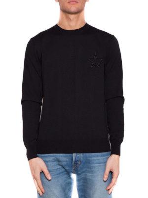 Givenchy: crew necks online - Star embroidery cotton crew neck