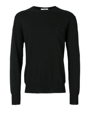 Givenchy: crew necks - Star embroidery cotton crew neck