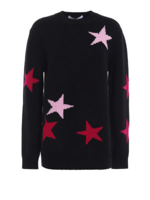 Givenchy: crew necks - Star intarsia wool oversize sweater