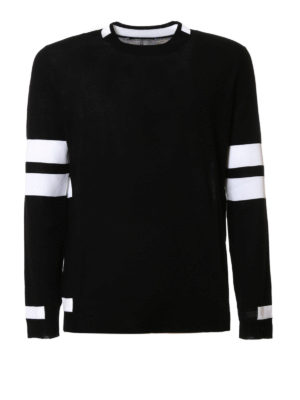 Givenchy: crew necks - Striped sleeves wool sweater