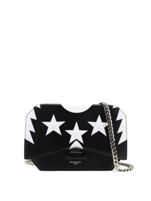 Givenchy: cross body bags - Bow-cut leather crossbody bag