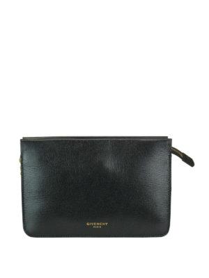 GIVENCHY: borse a tracolla - Piccola borsa Cross 3 con zip in pelle nera