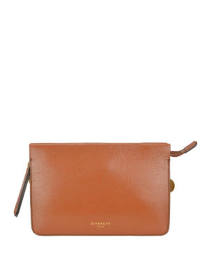 GIVENCHY: borse a tracolla - Piccola borsa Cross 3 in pelle marrone