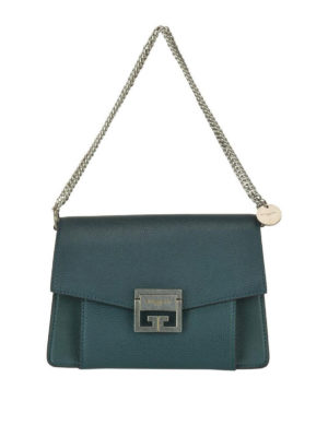 GIVENCHY  borse a tracolla - Tracolla piccola GV3 in pelle verde a grana.  Givenchy. GV3 green grainy leather small cross body bag 53bf04b34697e