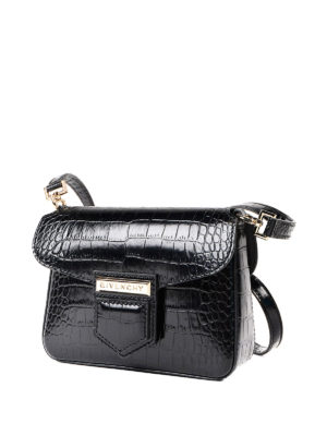 Givenchy: cross body bags online - Nobile croco pattern crossbody