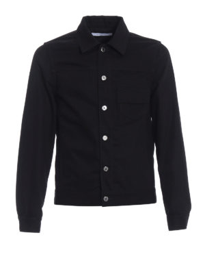 Givenchy: denim jacket - Black cotton denim buttoned jacket
