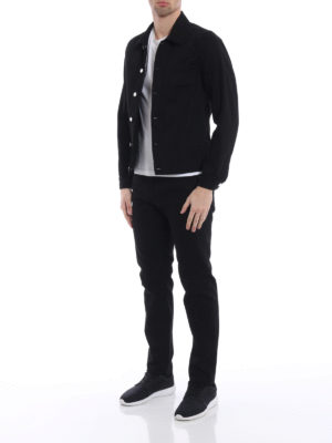 Givenchy: denim jacket online - Black cotton denim buttoned jacket