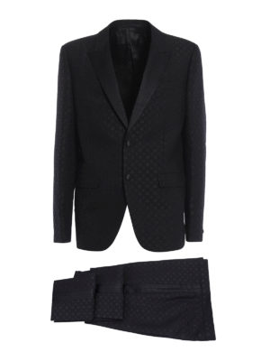 Givenchy: dinner suits - Micro pattern wool dinner suit