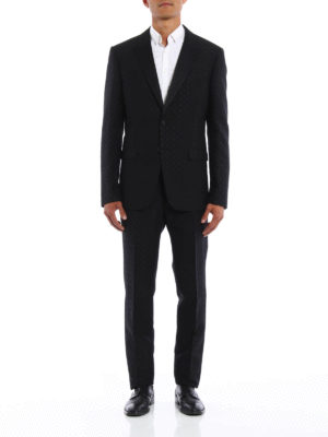 Givenchy: dinner suits online - Micro pattern wool dinner suit