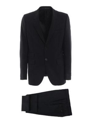 GIVENCHY: completi da sera - Completo nero due pezzi in lana e mohair