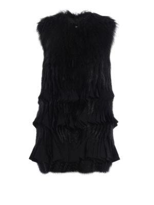 Givenchy: Fur & Shearling Coats - Fox fur sleeveless short coat