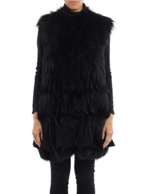 Givenchy: Fur & Shearling Coats online - Fox fur sleeveless short coat