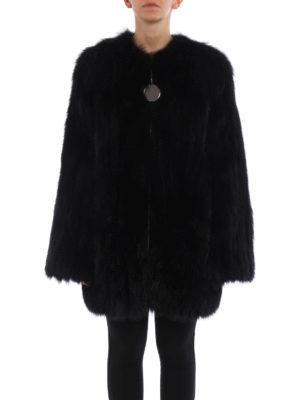 Givenchy: Fur & Shearling Coats online - Striped fox fur over coat