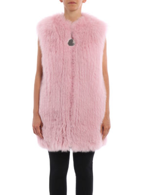 Givenchy: Fur & Shearling Coats online - Striped fox fur vest