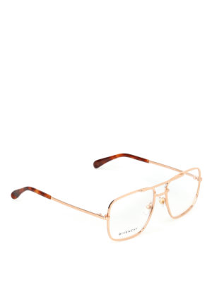 GIVENCHY: Occhiali - Occhiali da vista in metallo con doppio ponte