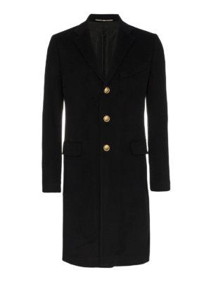 GIVENCHY: cappotti al ginocchio - Cappotto in lana e cashmere bottoni dorati 4G