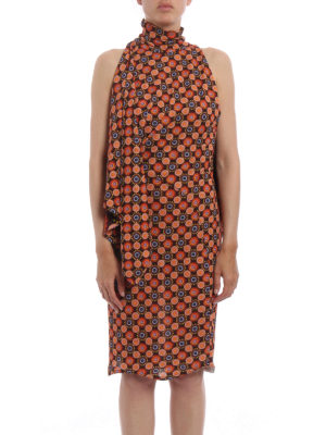 Givenchy: knee length dresses online - Psychedelic flowers jersey dress