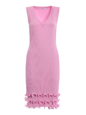 Givenchy: knee length dresses - Pink viscose pleated dress