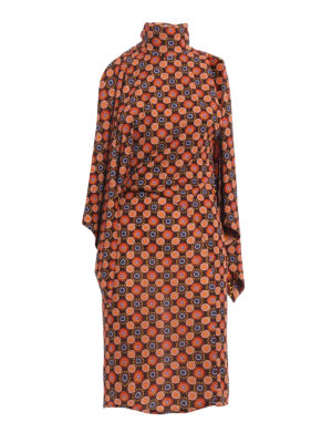 Givenchy: knee length dresses - Psychedelic flowers jersey dress