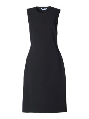 Givenchy: knee length dresses - Silk panels detailed cady dress