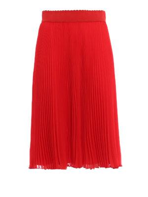 Givenchy: Knee length skirts & Midi - Pleated skirt