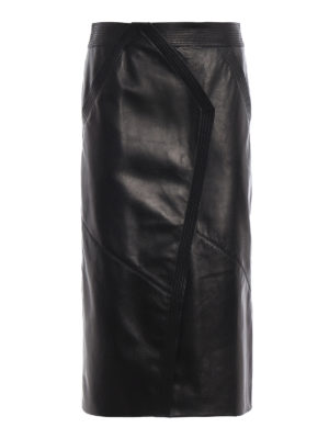 GIVENCHY: gonne al ginocchio  e longuette - Longuette in pelle di pecora con spacco