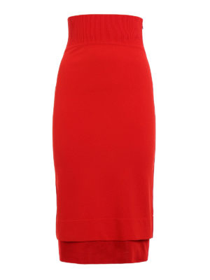 Givenchy: Knee length skirts & Midi - Viscose blend pencil skirt