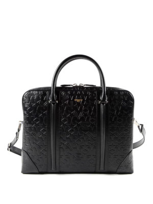 Givenchy: laptop bags & briefcases - Embossed leather bag