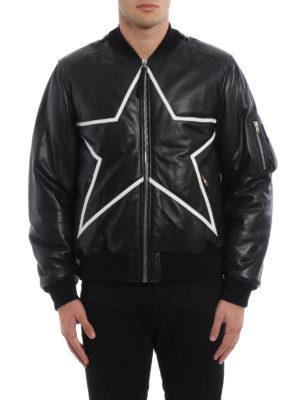 Givenchy: leather jacket online - Padded soft leather jacket