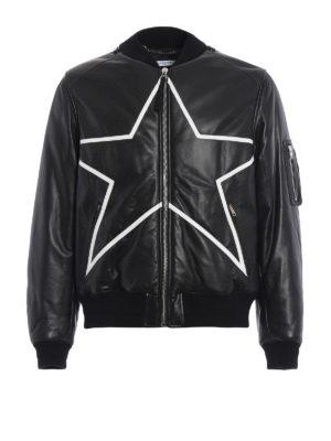 Givenchy: leather jacket - Padded soft leather jacket
