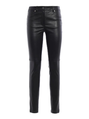 Givenchy: leather trousers - Five pocket napa leather trousers
