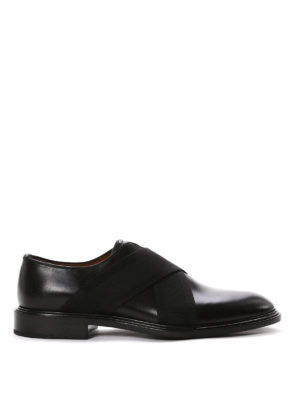 Givenchy: Loafers & Slippers - Crisscrossed elastic bands slip-ons