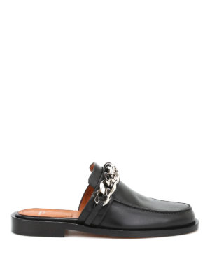 Givenchy: Loafers & Slippers - Embellished leather flat slippers