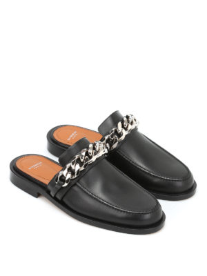 Givenchy: Loafers & Slippers online - Embellished leather flat slippers