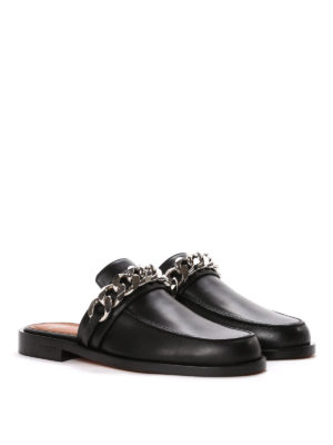 Givenchy: Loafers & Slippers online - Leather loafers with chain