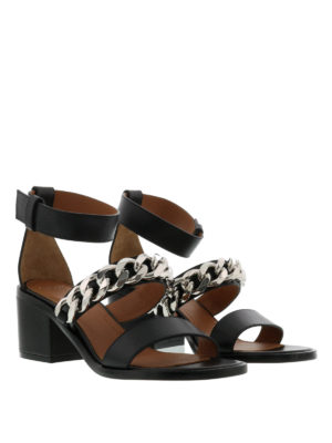 Givenchy: Loafers & Slippers online - Leather sandals with chain