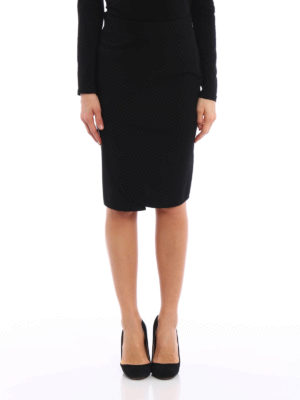 Givenchy: mini skirts online - Lightweight cady pencil skirt