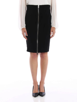 Givenchy: mini skirts online - Zip detailed pencil skirt
