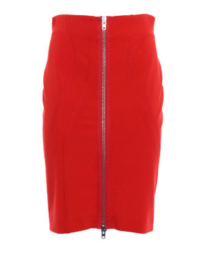 Givenchy: mini skirts - Zip detailed pencil skirt