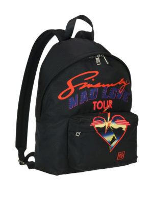 GIVENCHY: zaini online - Zaino in nylon stampa Givenchy Mad Love Tour