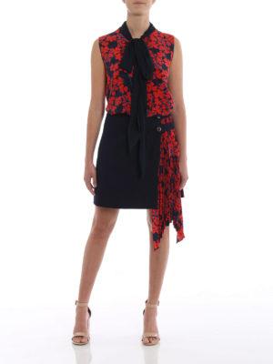 GIVENCHY: bluse online - Blusa ampia in seta con sciarpina