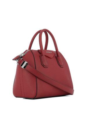 GIVENCHY: bauletti online - Borsa Antigona S in pelle a grana rosso scuro